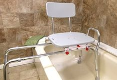 Handicap Bathroom, Small Bathroom, Bathroom Ideas, Shower Chairs For Elderly, Homemade Tools, Home Renovation, Shower Benches, Safety, Bathrooms