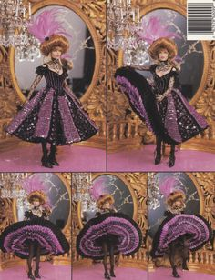 1895 Jeweled Moulin Rouge Lade Vol 88 Paradise by LucyGooseyDolls