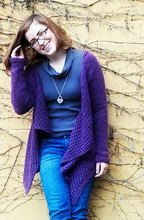 "Note: Cardigan is designed to be worn with 5-6"" of positive ease, due to the overly large fronts."