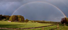 double rainbow out in the country