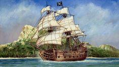 Pirate Boats, Pirate Art, Pirate Life, Pirate Theme, Model Ship Kits, Model Ships, Peter Pan Art, Navy Coast Guard, Old Sailing Ships
