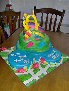 "Dr. Seuss ""Oh the Places You'll Go!"" Graduation Cake"