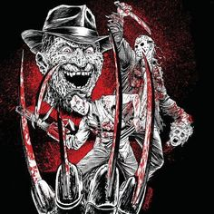 Freddy, Ash and Jason Horror Villains, Horror Movie Characters, Robert Englund, Best Horror Movies, Scary Movies, Horror Icons, Horror Art, Freddy Krueger, Fright Night