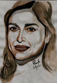 Water Color Sketch of the Bollywood Fame – Deepika Padukone