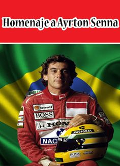 Homenaje a Ayrton Senna #Formula1 #AyrtonSenna #Piloto Baseball Cards, Ayrton Senna, Sports, Autos
