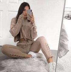 768e80b747c3 2018 New Autumn Winter Two Pieces Set Women Workout Long Sleeveuotelab High  Fashion Outfits