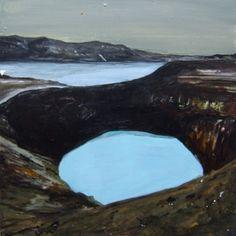 John Hainsworth, landscape artist: Malin    Oil, acrylic and watercolour on Aluminium    10x10cm    2011