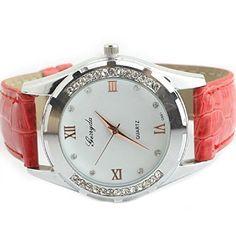 Aokdis (TM) Hot Selling Elegant Women Girl Watch Rhinestone Quartz OL Ladies Wrist Watch - Jewelry For Her