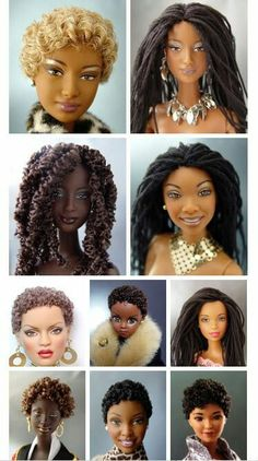 Beautiful Dolls with natural hairstyles