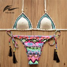 Swimming 2017 Summer Newset Push Up Sexy Lace Print Bikinis Set Adjustable Straps Padded Swimwear Maiden Swimsuit Bathing Suit Women
