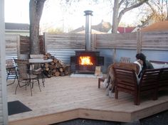 Captivating A Wood Stove Outdoors...totally Awesome Idea