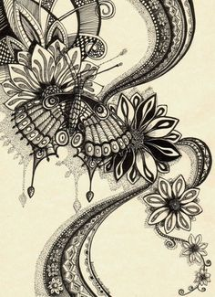butterfly zentangle.