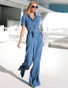 Jumpsuit, bleached, blauw | MADELEINE Fashion