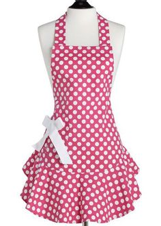 191 Free Apron Patterns. Love the polka dots!