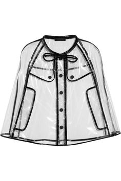 Burberry Prorsum's patent leather-trimmed transparent cape