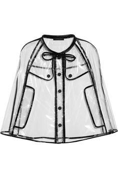 Burberry Prorsum Patent leather-trimmed cape