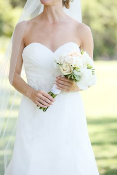 Classic and perfect #sweetheart #gown   Amelia Island Wedding at Oyster Bay Harbour from Wes Roberts Photography  Read more - http://www.stylemepretty.com/florida-weddings/2013/10/28/amelia-island-wedding-at-oyster-bay-harbour-from-wes-roberts-photography/