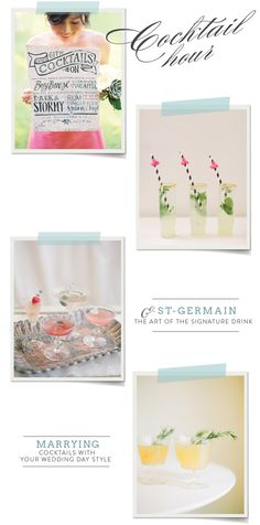Signature Cocktails from St-Germain!