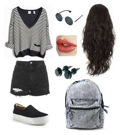 """Grungy"" by selin3800 ❤ liked on Polyvore featuring Topshop, Opening Ceremony, women's clothing, women's fashion, women, female, woman, misses and juniors"