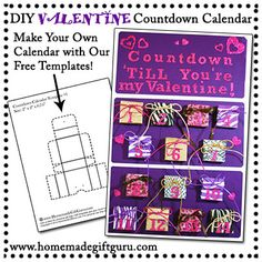 Use These Advent Calendar Templates From WwwHomemadegiftguruCom