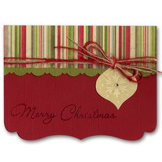 attractive die cut edge with layered paper and embellishments; idea could be used for other holidays and occasions