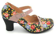 #goldbutton #pump #shoes #flowers #multicolor