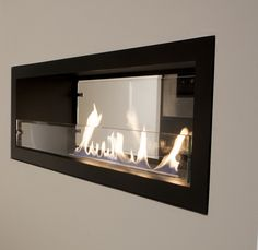 Decoflame Montreal. Built in, bespoke bio ethanol fireplaces. Fireplace can be under TV. To view our full range visit: http://www.decoflame.co.uk/