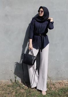 Modest Fashion Hijab, Modern Hijab Fashion, Street Hijab Fashion, Casual Hijab Outfit, Hijab Fashion Inspiration, Hijab Chic, Muslim Fashion, Fashion Pants, Fashion Outfits
