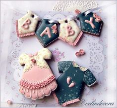 Baby shower cookie set by Evelindecora