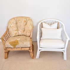 DIY Cane Chair Makeover Chair makeover My Kind of Bliss Cane Outdoor Furniture, Cane Furniture, Bamboo Furniture, Refurbished Furniture, Ikea Furniture, Upcycled Furniture, Furniture Refinishing, Painting Furniture, Outdoor Chairs