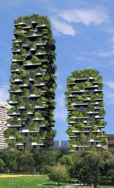 Bewaldete Hochhäuser in Mailand / Bosco Verticale - Architektur und Architekten - News / Meldungen / Nachrichten - BauNetz.de