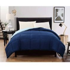 CJ Breeze by Caribbean Joe Reversible Down Alternative Bedding Comforter NAVYSLATE ** You can get more details by clicking on the image.