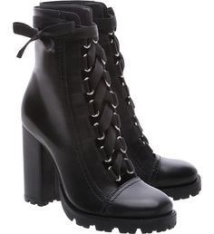 Combat Boots Sola Tratorada Leather Black - SCHUTZ