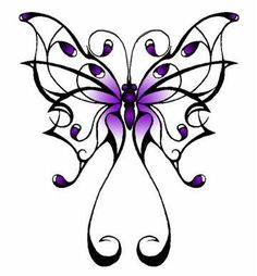 Purple Butterfly Photo: This Photo was uploaded by tipsygreen. Find other Purple Butterfly pictures and photos or upload your own with Photobucket free . Lupus Tattoo, Purple Butterfly Tattoo, Butterfly Drawing, Monarch Butterfly, Butterfly Kisses, Stencils Tatuagem, Tattoo Stencils, Tattoo Fonts, Tattoo Symbols