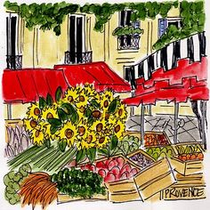 Oui oui oui... if YOU email me... YOU can purchase PRINTS of paintings on My Gallery site