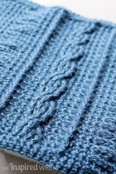 Gorgeous cable! -- Crochet Cable, Square 9 of 10 of the Crochet Along Afghan Sampler on The Inspired Wren