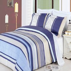 Enjoy the comfort and Softness of our Park Avenue California King/King Duvet Set which are Egyptian cotton bedding with 300 Thread count fiber reactive Egyptian cotton Thread count *Reactive Print, lasts longer and looks like real live pictures Queen Bedding Sets, Queen Comforter Sets, Comforter Cover, Duvet Sets, Duvet Cover Sets, Queen Duvet, Bed Covers, King Pillows, King Duvet