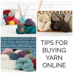 Wondering how to buy yarn online without touching or seeing it in person? Shopping for yarn on the web can be confusing at first, but these tips will help!
