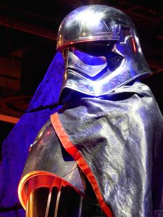 Captain Phasma Star Wars: The Force Awakens helmet detail
