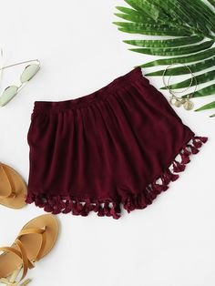 Shop ROMWE's range of shorts for women online. From casual jean shorts to high waisted shorts, you'll find cool styles for every occasion. Pop Fashion, Teen Fashion, Fashion Outfits, Fashion Black, Fashion Ideas, Vintage Fashion, Fashion Shorts, Fashion Backpack, Trendy Outfits