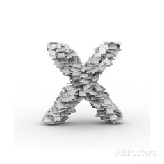 Letter X, Stacked From Paper Sheets Posters by iunewind - AllPosters.co.uk