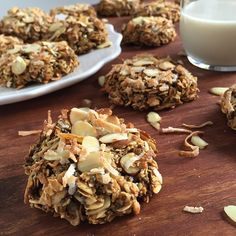 Chia Coconut & Almond Oatmeal Cookies