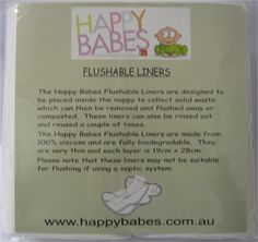 Love these liners - catch the poop for a quick flush and little poo on the nappy