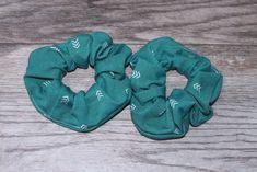 Jade Green Chevron Print Hair Scrunchie, Wrist Scrunchie, Gift for Her, Teen . Silk Material, Stretchy Material, Gifts For Teens, Gifts For Her, Coffee Hair, Brooklyn And Bailey, Green Chevron, Elastic Hair Bands, Girls Hair Accessories