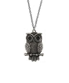 """More than just cute, owl is the symbol of wisdom.    This Be Wise As An Owl necklace will remind you to stay calm and carry on with grace when you face challenges.    It comes with 18"""" fine chain. At the end of the chain, it has a 2"""" extension with LAVISHY logo tag.    Pendant Measurement: 1.8 x 2.7 cm    Price: $14.99"""