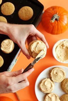 PERFECT-Vegan-Pumpkin-Sugar-Cookies!-1-bowl,-tender,-sweet,-perfeclty-spiced!-#vegan-#fall-#pumpkin