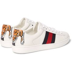 gucci shoes for men low tops. gucci ace watersnake-trimmed leather sneakers ($635) ❤ liked on polyvore featuring men\u0027s shoes for men low tops a