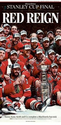 6a67e55fb Commemorate the Blackhawks Stanley Cup championship in 6 years with this  poster from the Chicago Tribune Store. Shop for more Hawks Stanley Cup gear  now.