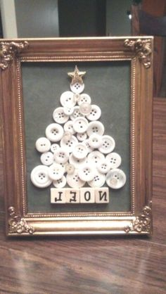 Have some leftover buttons and need some cool new craft ideas, too? You may want to go restock on buttons after you see these creative and easy DIY projects made with buttons. button crafts Best Button Craft Ideas that are Both Creative & Fun Noel Christmas, Rustic Christmas, Winter Christmas, Christmas Ornaments, Coastal Christmas, Christmas Buttons, Button Ornaments, Victorian Christmas Tree, Christmas Sayings