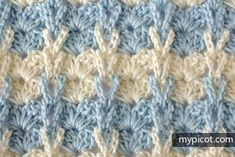 MyPicot | Free crochet patterns Shell stitch with knitting loops